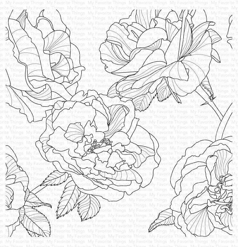 My Favorite Things FANCIFUL ROSES BACKGROUND Cling Stamp