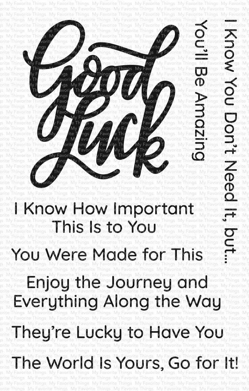 My Favorite Things GOOD LUCK GREETINGS Clear Stamp Set
