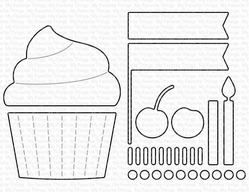 My Favorite Things CUPCAKE AND SPRINKLES Die-namics Die