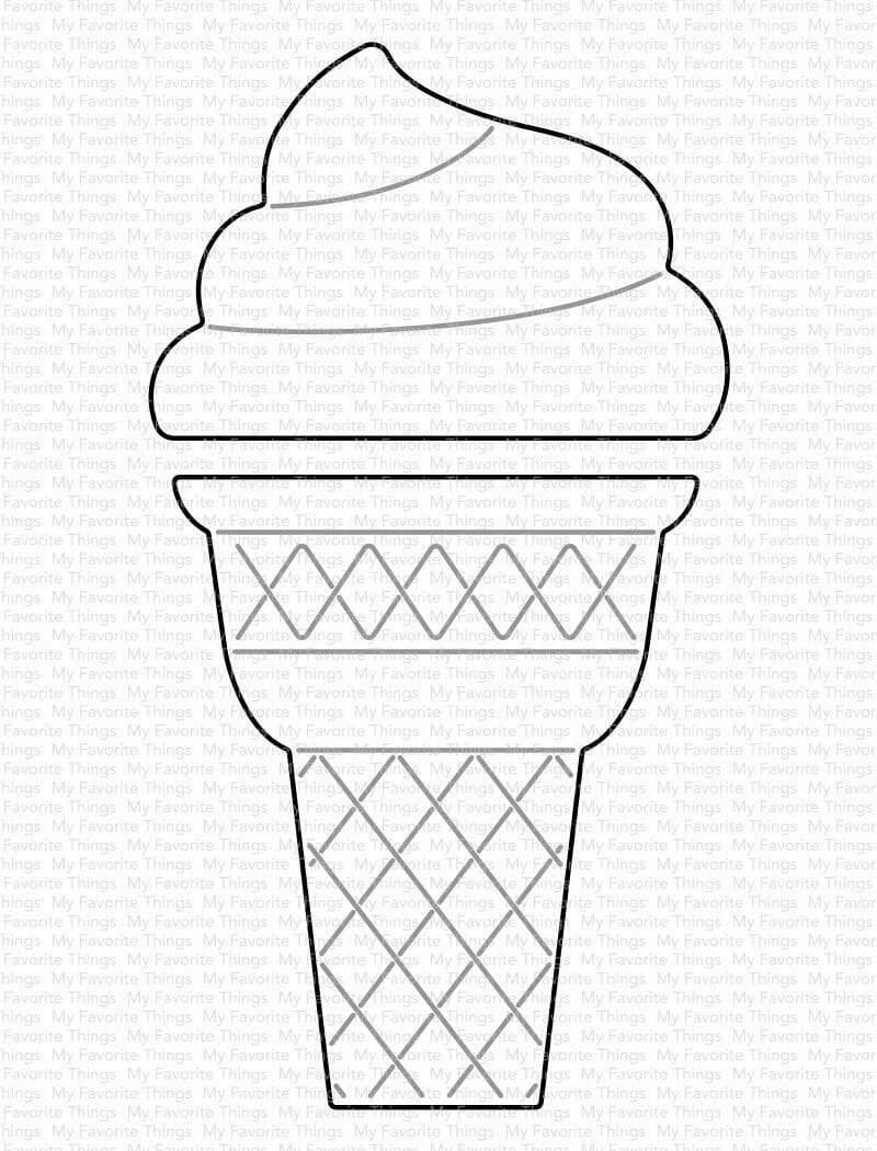 My Favorite Things ICE CREAM CONE Die-namics Die