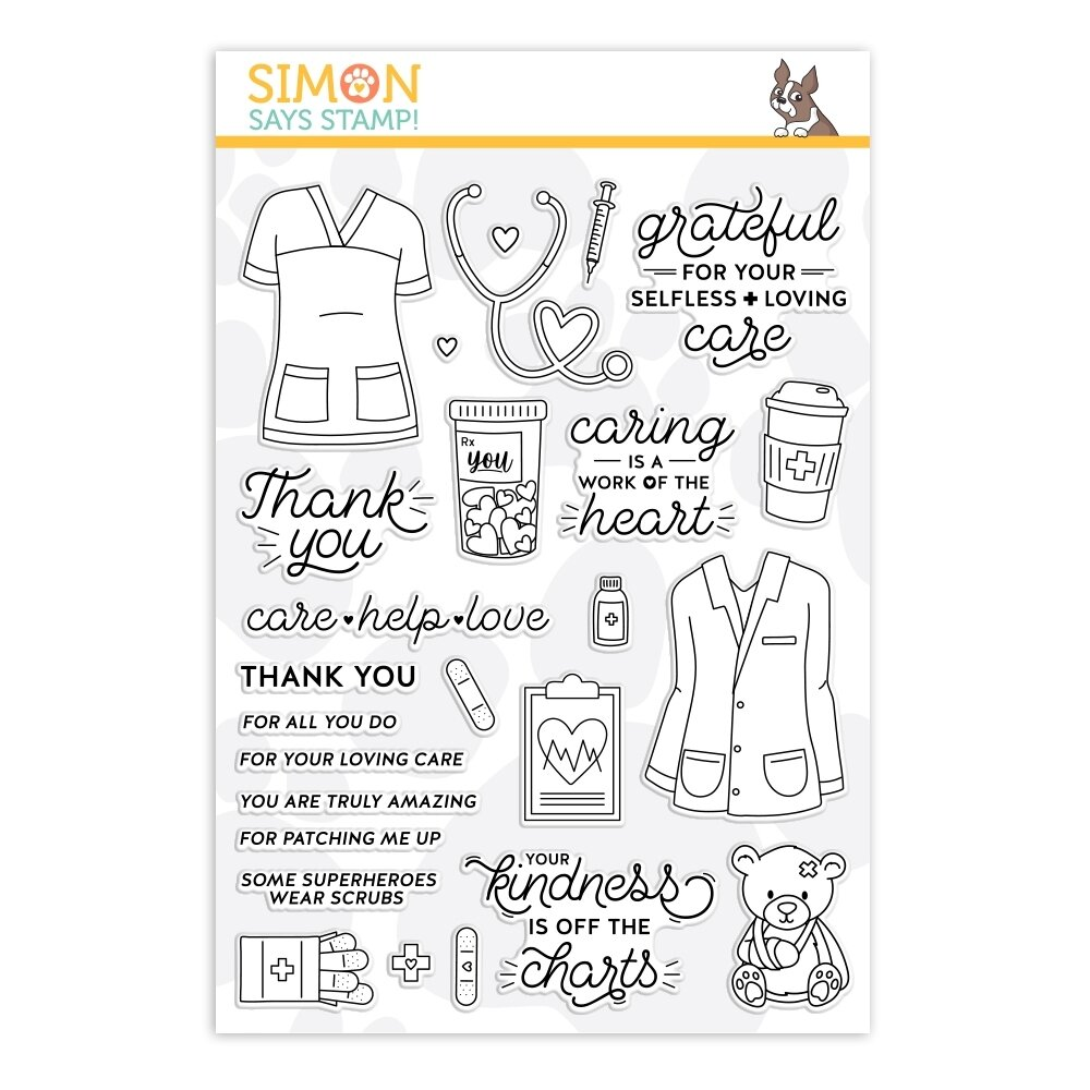 Simon Says Stamp WORK OF THE HEART Clear Stamp Set
