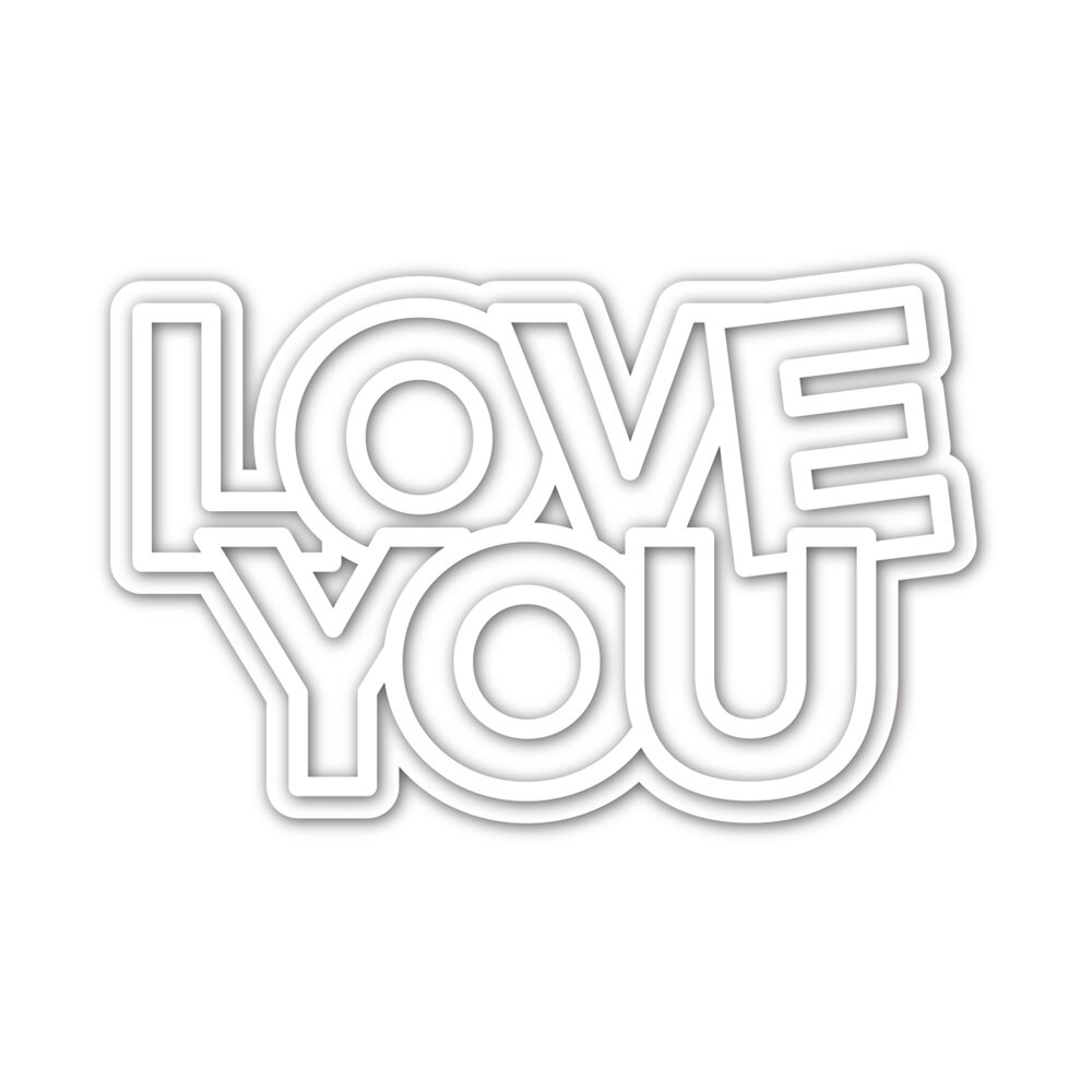 Simon Says Stamp CHUNKY LOVE YOU  Die Set