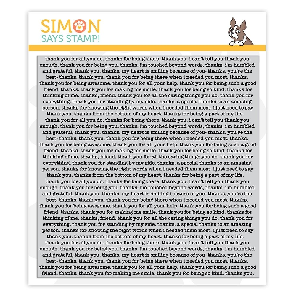 Simon Says Stamp THANK YOU TEXT Cling Stamp