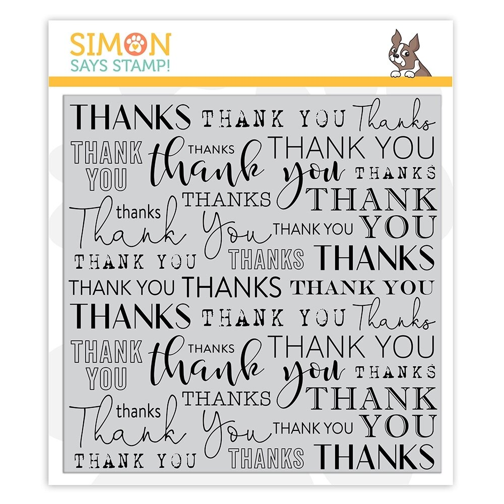 Simon Says Stamp THANK YOU BACKGROUND Cling Stamp
