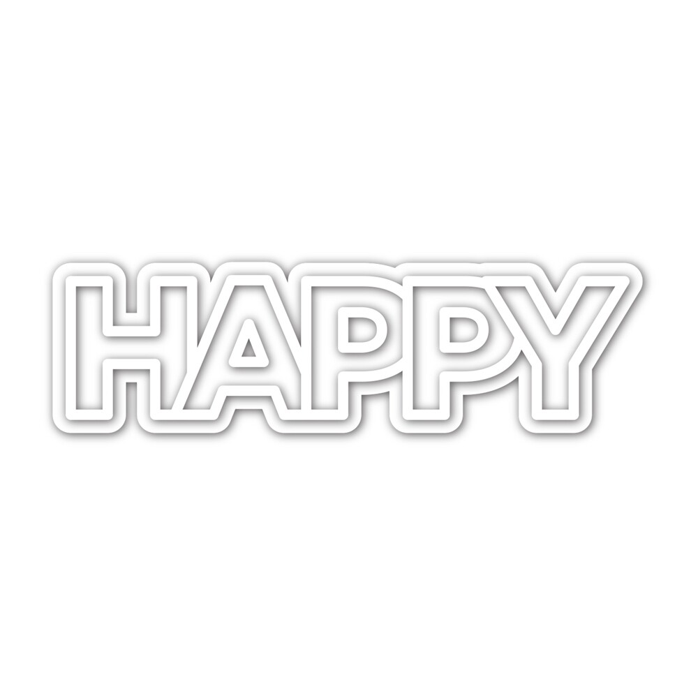 Simon Says Stamp CHUNKY HAPPY Die Set