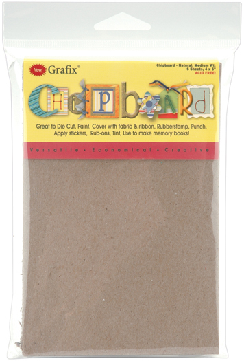 Grafix NATURAL Chipboard Sheets 4x6in, 6 pack