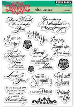 Penny Black ELOQUENCE Clear Stamp Set
