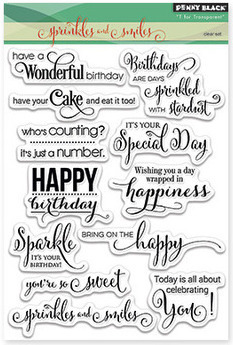 Penny Black SPRINKLES AND SMILES Clear Stamp Set