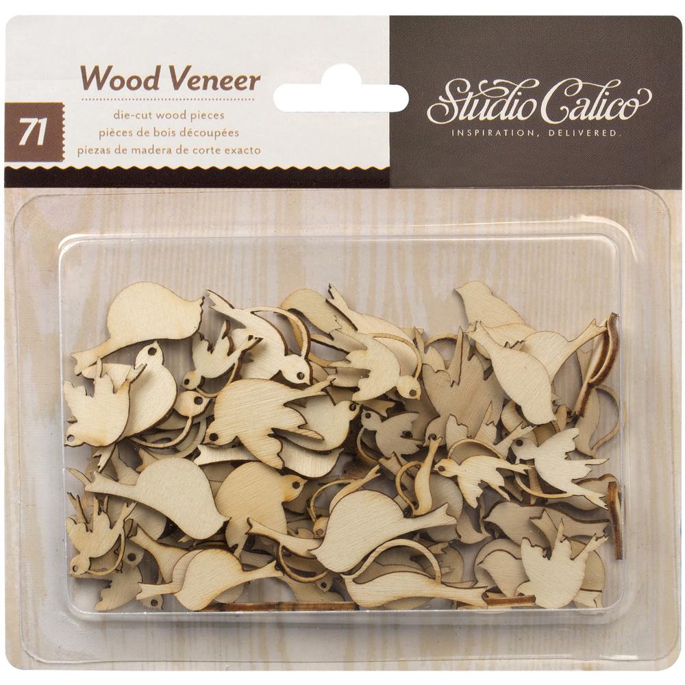 Studio Calico BIRDS Laser Cut Wood Veneer Shapes