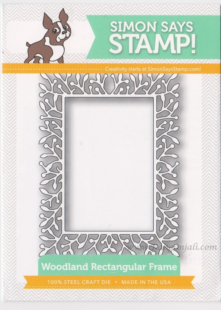 Simon Says Stamp WOODLAND RECTANGULAR FRAME Craft Dies