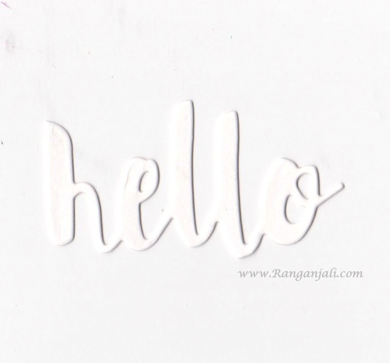 Simon Says Stamp PAINTED HELLO Wafer Thin Die