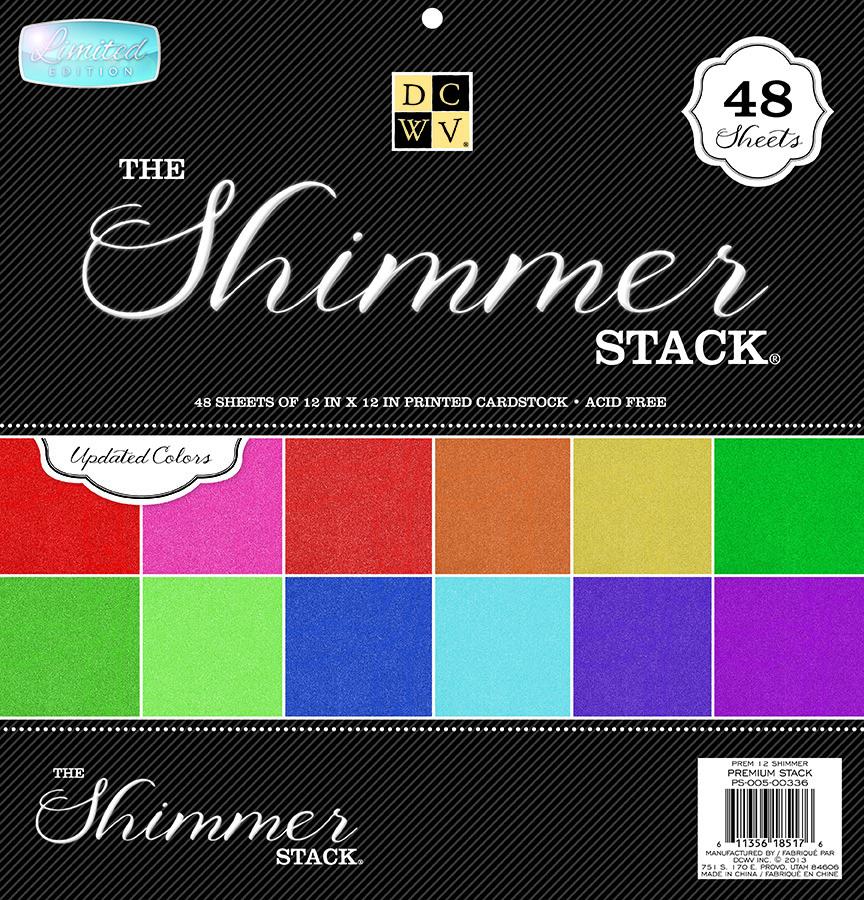 DCWV SHIMMER Premium Stack 12x12