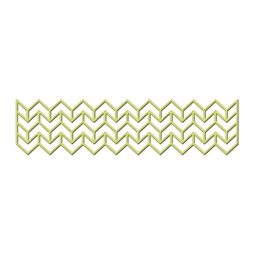 Spellbinders Shapeabilities CHEVRON BORDER Die Set