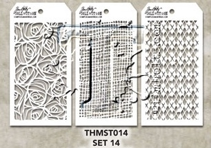 Tim Holtz MINI STENCIL SET 14