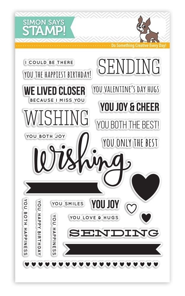 Simon Says Stamps SENDING AND WISHING Clear Stamp Set