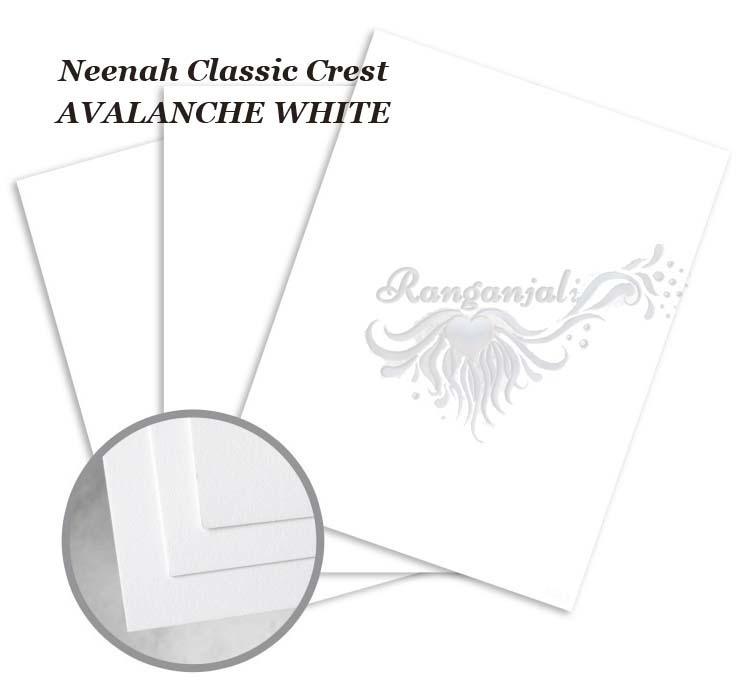 Neenah Classic Crest AVALANCHE WHITE Smooth Cardstock 270GSM- 10/pk