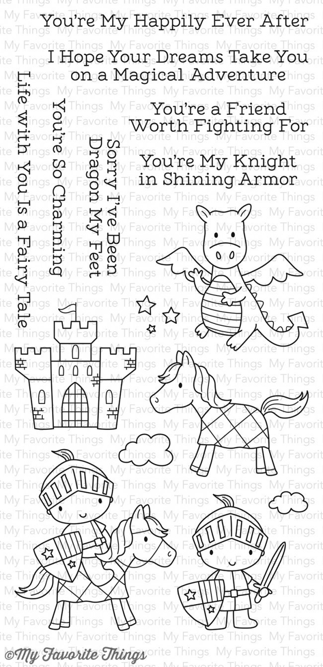 My Favorite Things KNIGHT IN SHINING ARMOR Clear Stamp Set