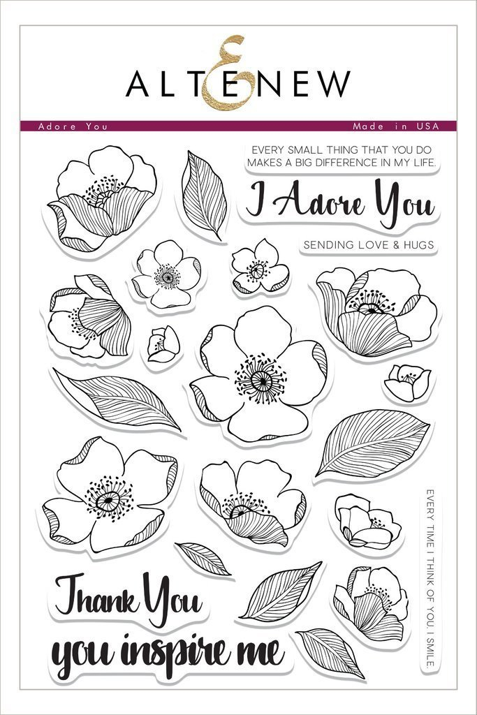 Altenew ADORE YOU Clear Stamp Set