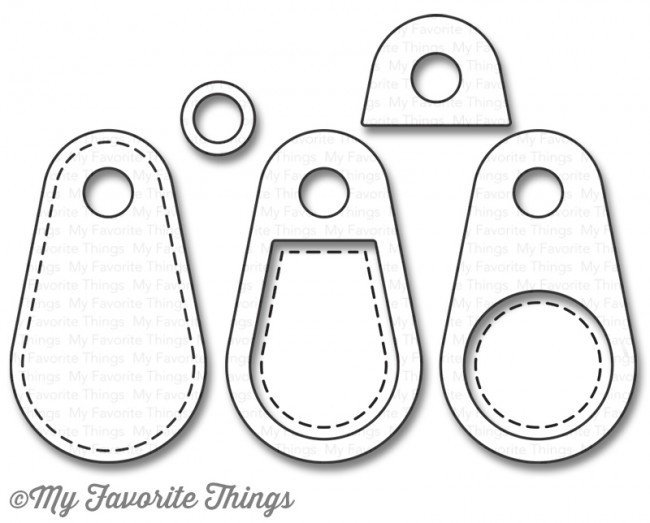My Favorite Things STITCHED TINY TAGS 2- Die-namics Die Set
