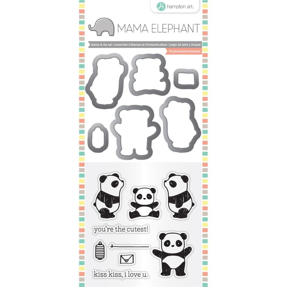 Hampton Art PANDA Mama Elephant Stamp & Die Set