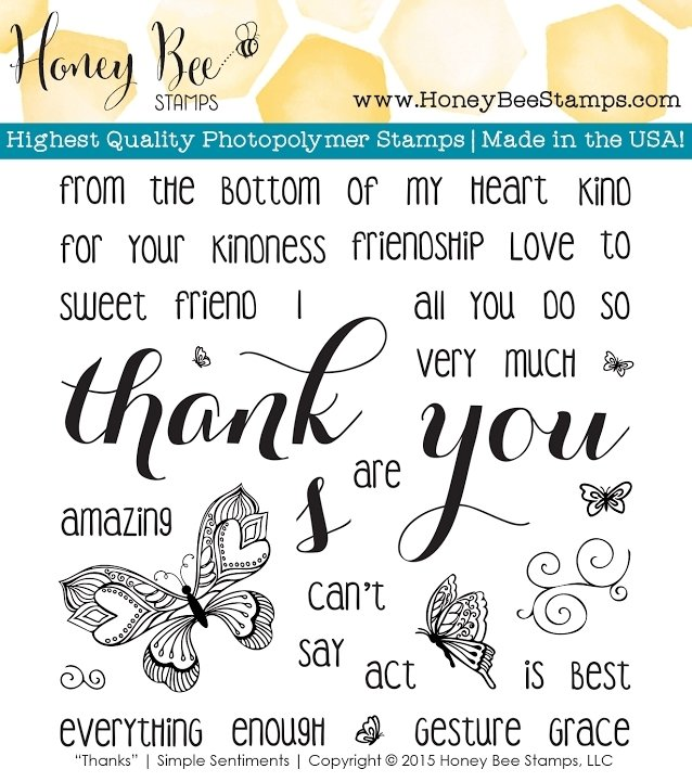 Honey Bee THANKS Clear Stamp Set