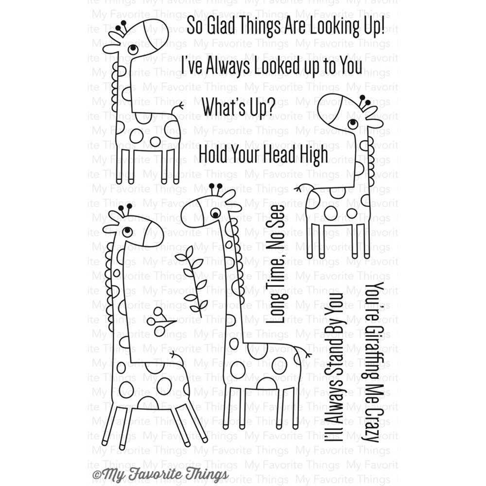 My Favorite Things GIRAFFING ME CRAZY Clear Stamp Set