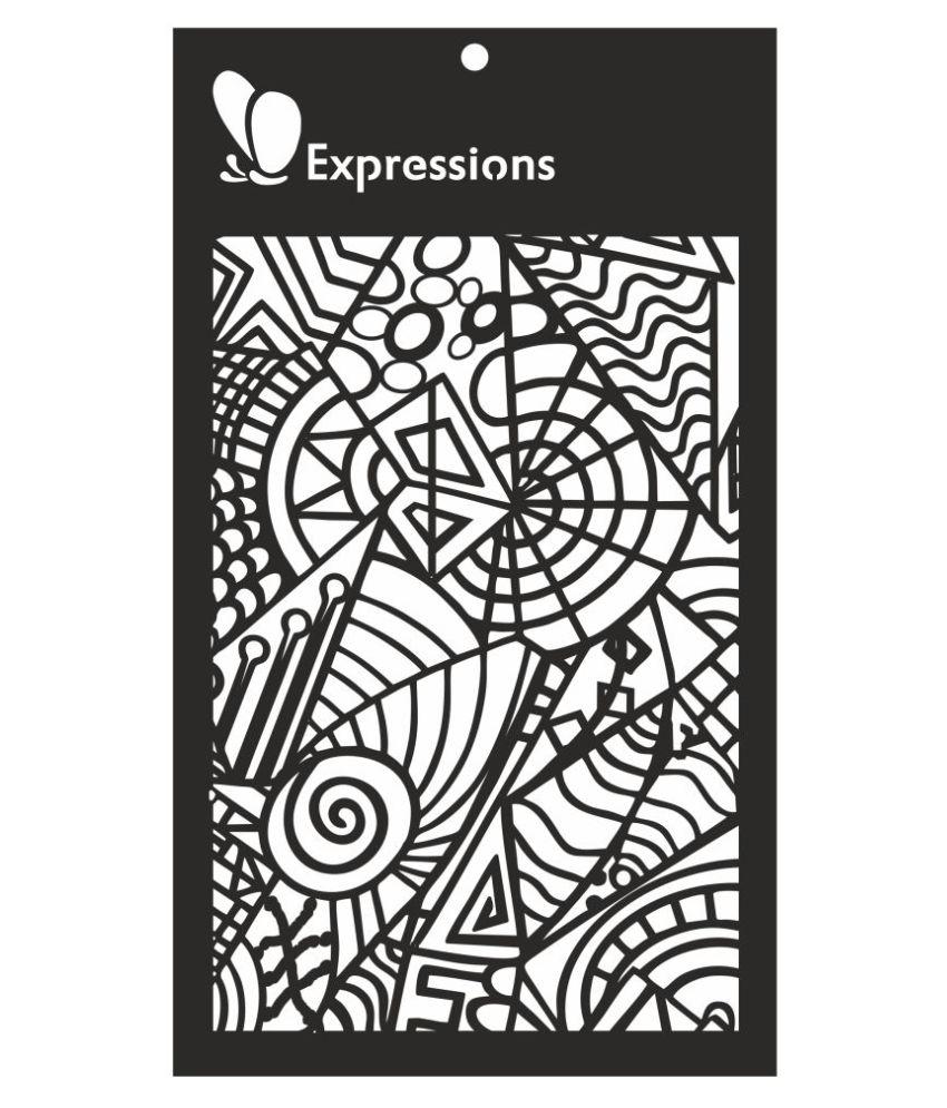 Expressions DOODLES Stencil
