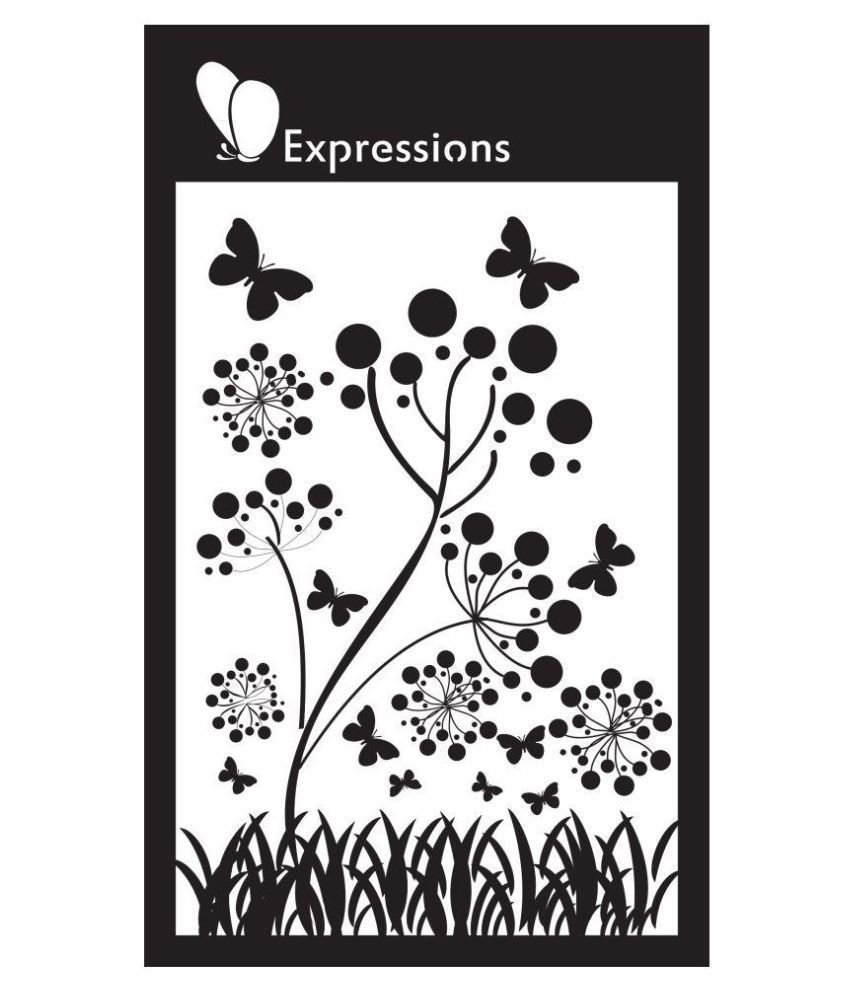 Expressions GARDEN FLORAL SPRAY Stencil