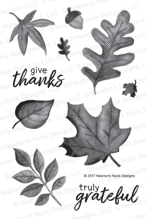 Newton's Nook SHADES OF AUTUMN Clear Stamp Set