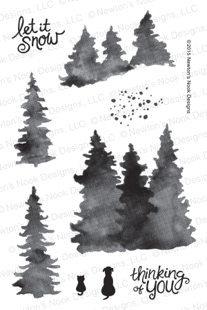 Newton's Nook WHISPERING PINES Clear Stamp Set