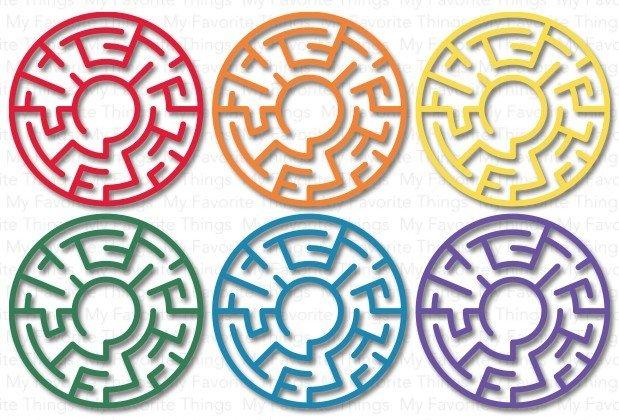 My Favorite Things RAINBOW Maze Shapes Embellishments