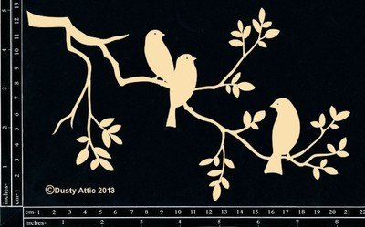 Dusty Attic BIRDS ON A BRANCH #3 Lasercut Designs