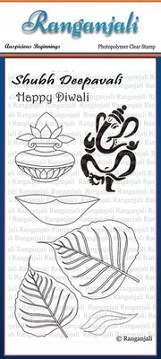 Ranganjali AUSPICIOUS BEGINNINGS Clear Stamp Set