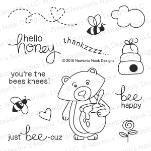 Newton's Nook Designs WINSTON'S HONEYBEES Clear Stamp Set