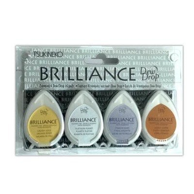 Tsukineko Brilliance PLANETARIUM Metallics 4 Dew Drop Ink Pads
