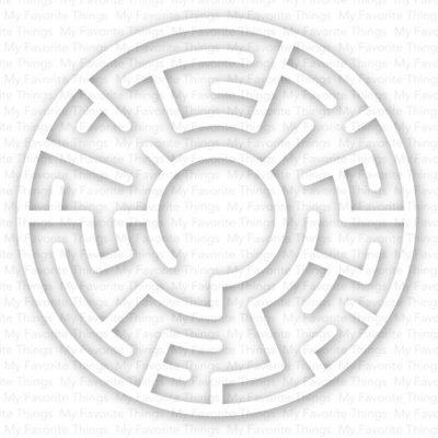 My Favorite Things WHITE Maze Shapes Embellishments