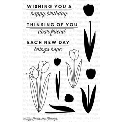 My Favorite Things SPRING TULIPS Clear Stamp Set