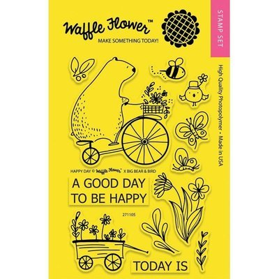 Waffle Flower HAPPY DAY Clear Stamp Set