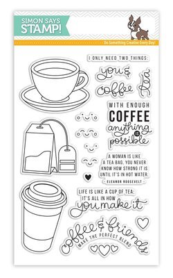 Simon Says Stamps COFFEE AND TEA Clear Stamp Set