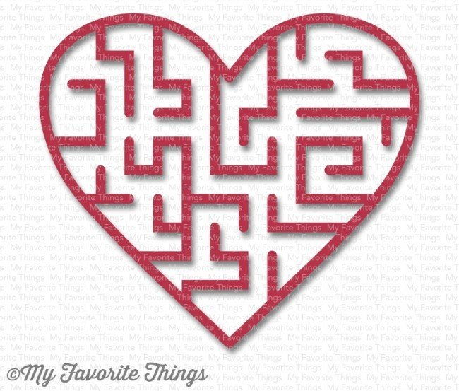 My Favorite Things HEART -WILD CHERRY Maze Shapes Embellishments