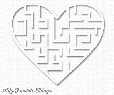 My Favorite Things HEART - WHITE Maze Shapes Embellishments