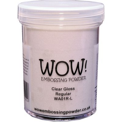 WOW! CLEAR GLOSS- Regular Embossing Powder- Large jar
