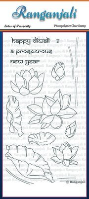 Ranganjali LOTUS OF PROSPERITY Clear Stamp Set