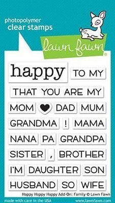 Lawn Fawn HAPPY HAPPY HAPPY ADD-ON: FAMILY Clear Stamp Set