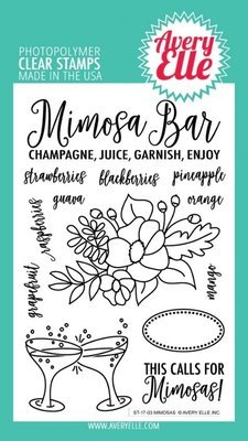 Avery Elle MIMOSAS Clear Stamp Set