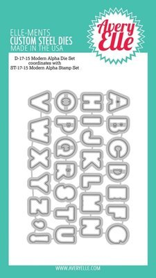 Avery Elle MODERN ALPHA Die Set