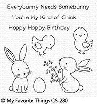 My Favorite Things HOPPY FRIENDS Clear Stamp Set