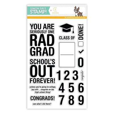 Simon Says Stamp RAD GRAD Clear Stamp Set
