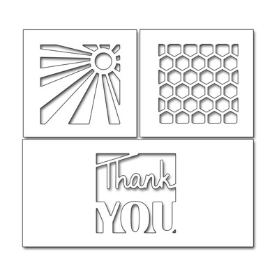 Penny Black THANK YOU SQUARES Die Set