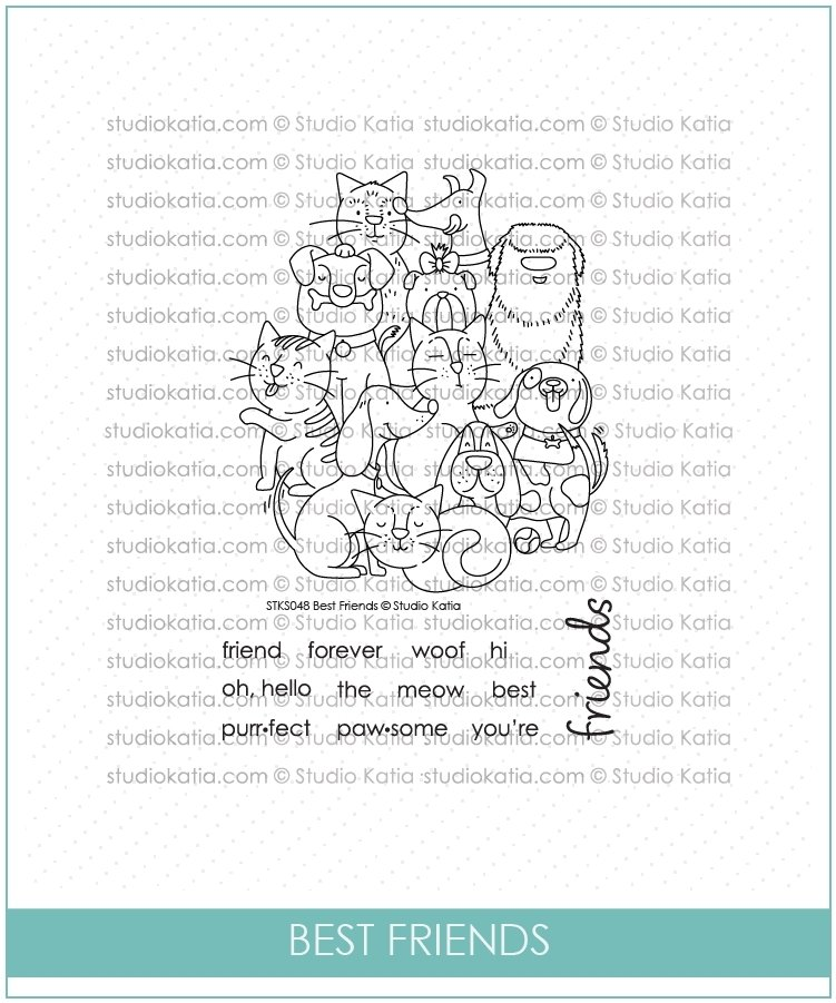 Studio Katia BEST FRIENDS Clear Stamp Set